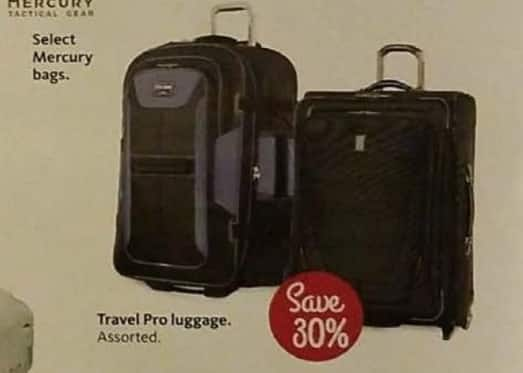 AAFES Cyber Monday: Select Travel Pro Luggage - 30% Off