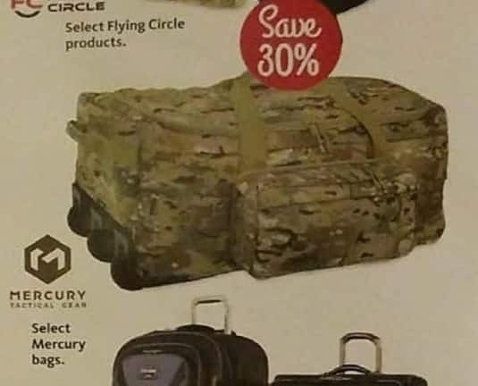 AAFES Cyber Monday: Select Mercury Bags - 30% Off