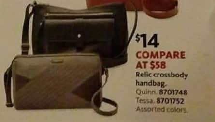 AAFES Cyber Monday: Relic Crossbody Bag for $14.00
