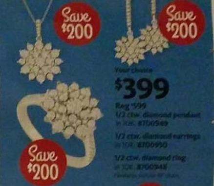 AAFES Cyber Monday: 1/2 ctw. Diamond Pendant for $399.00