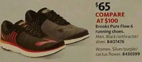 AAFES Cyber Monday: Brooks Men's and Women's Pure Flow 6 Running Shoes for $65.00