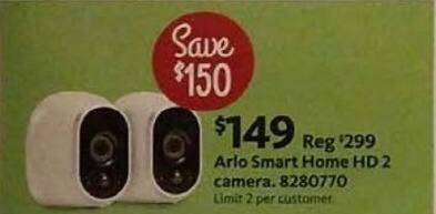 AAFES Cyber Monday: Arlo Smart Home HD 2 Camera for $149.00