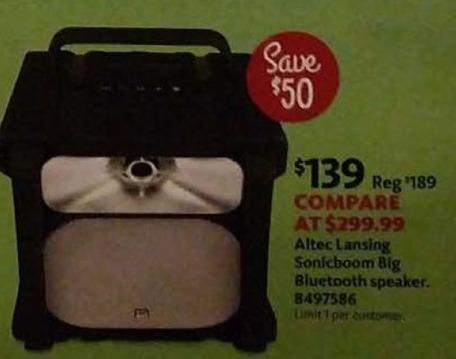 AAFES Cyber Monday: Altec Lansing Sonicboom Big Bluetooth Speaker for $139.00