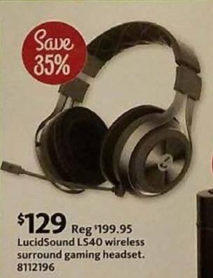 AAFES Cyber Monday: LucidSound LS40 Wireless Surround Gaming Headset for $129.00