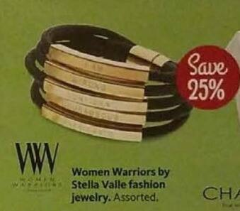 AAFES Cyber Monday: Select Women Warriors by Stella Valle Fashion Jewelry - 25% Off