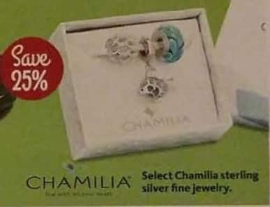 AAFES Cyber Monday: Select Chamilia Sterling Silver Fine Jewelry - 25% Off