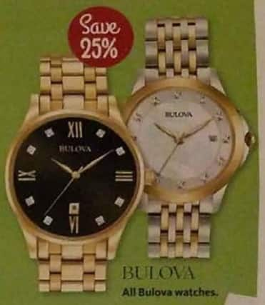 AAFES Cyber Monday: Entire Stock Bulova Watches - 25% Off