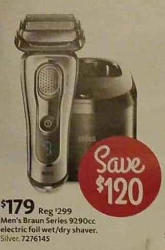 AAFES Cyber Monday: Men's Braun Series 9290cc Electric Foil Wet/Dry Shaver for $179.00