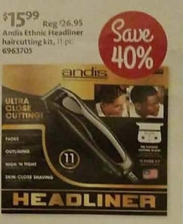 AAFES Cyber Monday: Andis Ethnic Headliner Haircutting Kit for $15.99