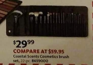 AAFES Cyber Monday: 22-Piece Coastal Scents Cosmetics Brush Set for $29.99