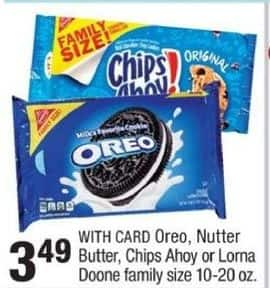 CVS Black Friday: Select Family Size Cookies: Oreo, Nutter Butter, Chips Ahoy or Lorna Doone 10-20 oz. for $3.49