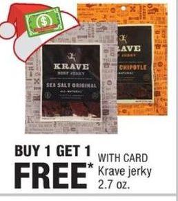 CVS Black Friday: Krave Jerky 2.7 oz. - B1G1 Free