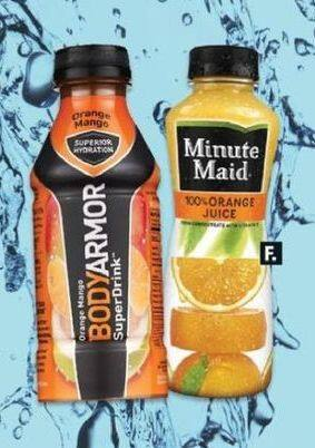 CVS Black Friday: (2) Select Drinks: Body Armor or Minute Maid 15.2-16 oz. for $3.00