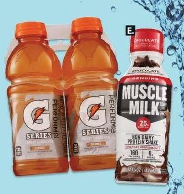 CVS Black Friday: (2) Gatorade 4-pack or Muscle Milk 12-16 oz. for $5.00