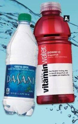 CVS Black Friday: (4) Select Drinks: Dasani, Vitamin Water and More for $5.00