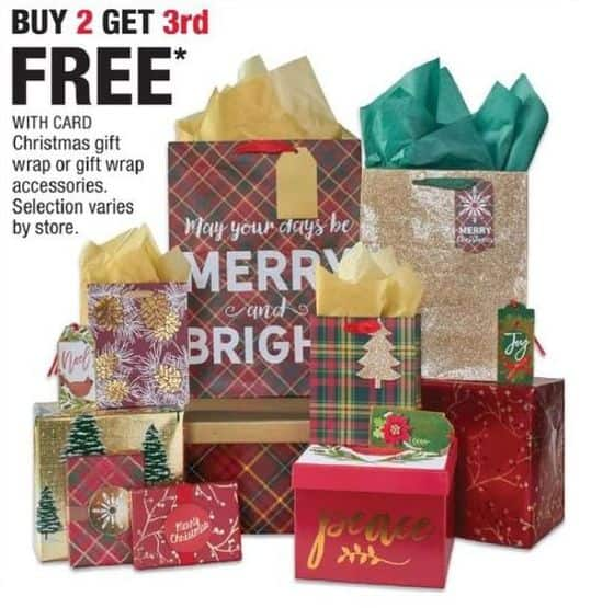 CVS Black Friday: Select Christmas Gift Wrap or Accessories - B2G1 Free