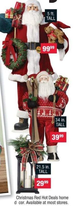 CVS Black Friday: 34 in. Santa Display for $39.99