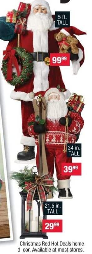 CVS Black Friday: 21.5 in. Santa Display for $29.99