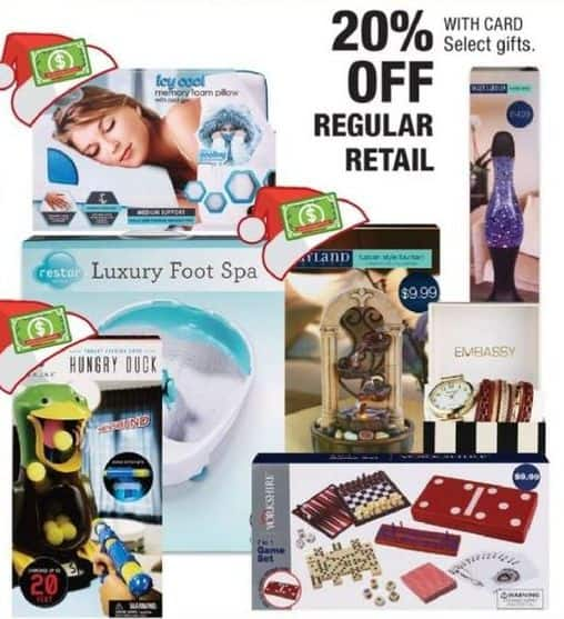 CVS Black Friday: Select Gifts: Luxury Foot Spa, Memory Foam Pillow and More - 20% Off