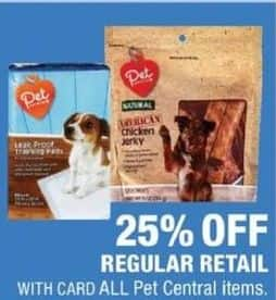 CVS Black Friday: Entire Stock Pet Central Items - 25% Off