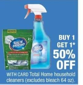 CVS Black Friday: Select Total Home Household Cleaners - B1G1 50% Off