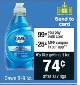 CVS Black Friday: Dawn Dish Detergent 8-9 oz. for $0.99