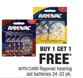 CVS Black Friday: Rayovac Hearing Aid Batteries 24-32 pack - B1G1 Free