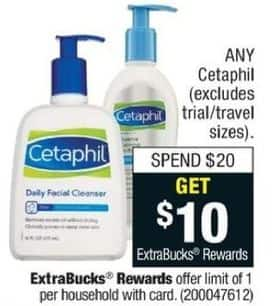 CVS Black Friday: Any Purchase Entire Stock Regular Size Cetaphil of $20 or More for $20.00