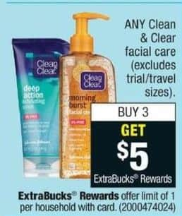 CVS Black Friday: Buy (3) Any Clean & Clear Facial Care - Get $5 ECB