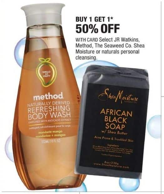 CVS Black Friday: Select Personal Cleansing: JR Watkins, Method and More - B1G1 50% Off