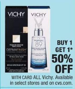 CVS Black Friday: Entire Stock Vichy Skin Care - B1G1 50% Off