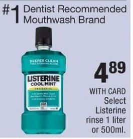 CVS Black Friday: Select Listerine Rinse 1L or 500mL for $4.89
