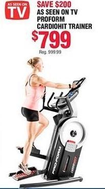 Navy Exchange Black Friday: Proform Cardiohit Trainer Fitness Machine for $799.00