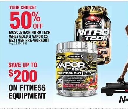 Navy Exchange Black Friday: Muscletech Nitro Tech Whey Gold - 50% Off