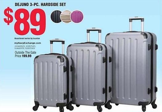 Navy Exchange Black Friday: Dejuno 3-Piece Hardside Luggage Set for $89.00
