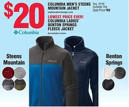 Navy Exchange Black Friday: Columbia Men's Steens Mountain Jacket for $20.00