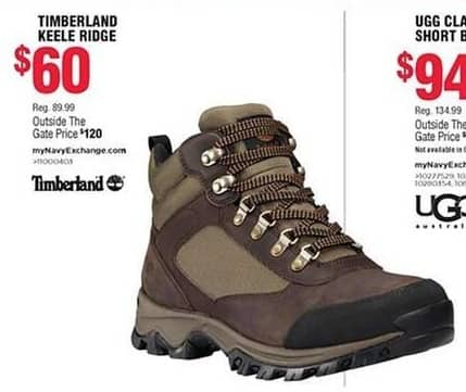 cf71e83a316 Navy Exchange Black Friday: Timberland Keele Ridge Hiking Shoes for ...