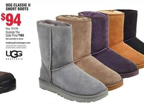 Navy Exchange Black Friday: Ugg Classic II Short Boots for $94.00