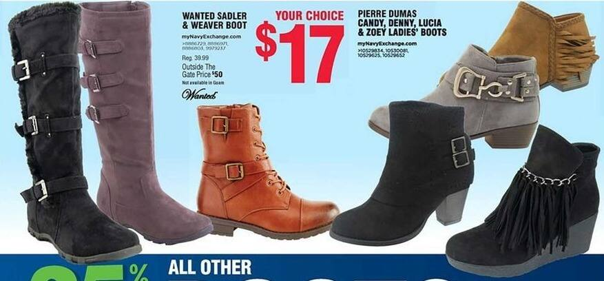 Navy Exchange Black Friday: Wanted Sadler & Weaver Boot for $17.00