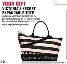 Navy Exchange Black Friday: Victoria's Secret Expandable Tote w/Any Victoria's Secret Eau De Parfum Purchase of 1.7oz or Larger for Free