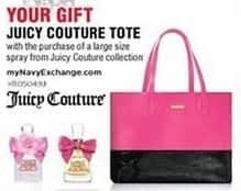 Navy Exchange Black Friday: Juicy Couture Tote w/Purchase of a Large Size Spray from Juicy Couture Collection for Free