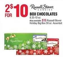 Navy Exchange Black Friday: (2) Russell Stover Box Candies, 8.25-12 oz for $10.00