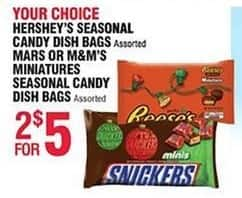 Navy Exchange Black Friday: (2) Select Seasonal Candies: Hershey's, Mars or M&M's for $5.00