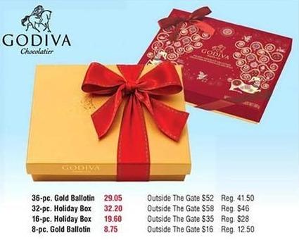 Navy Exchange Black Friday: Godiva Chocolatier 16-Piece Holiday Box for $19.60