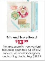 Craft Warehouse Black Friday: Trim and Score Board for $13.99