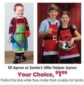 Craft Warehouse Black Friday: Elf or Santa's Little Helper Apron for $1.99