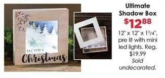 Craft Warehouse Black Friday: Undecorated Ultimate Shadow Box for $12.88