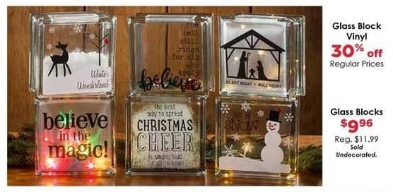 Craft Warehouse Black Friday: Undecorated Glass Block for $9.96