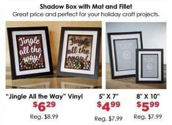 "Craft Warehouse Black Friday: Shadow Box w/Mat and Fillet, 8x10"" for $5.99"