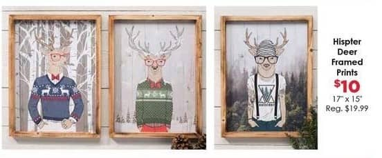 Craft Warehouse Black Friday: Hipster Deer Framed Prints for $10.00